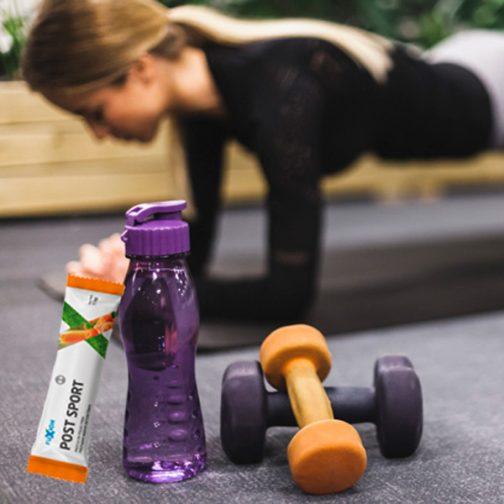 Bebida hidratante post sport